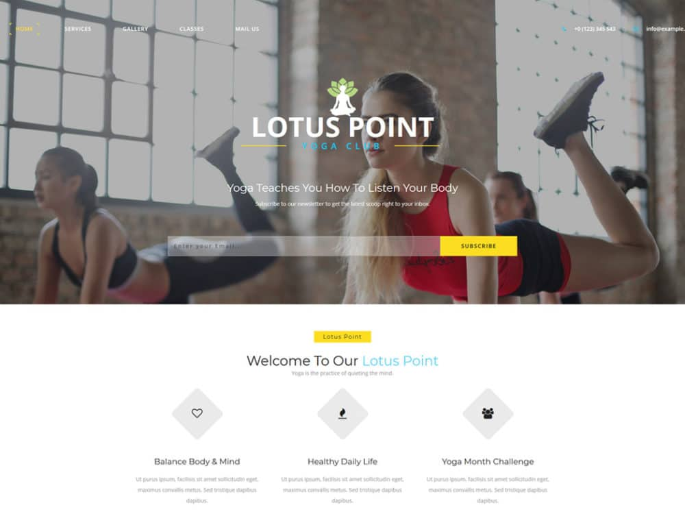 20 Best Free Fitness Website Templates With Fresh New Design 2018 - Fitness Templates Free
