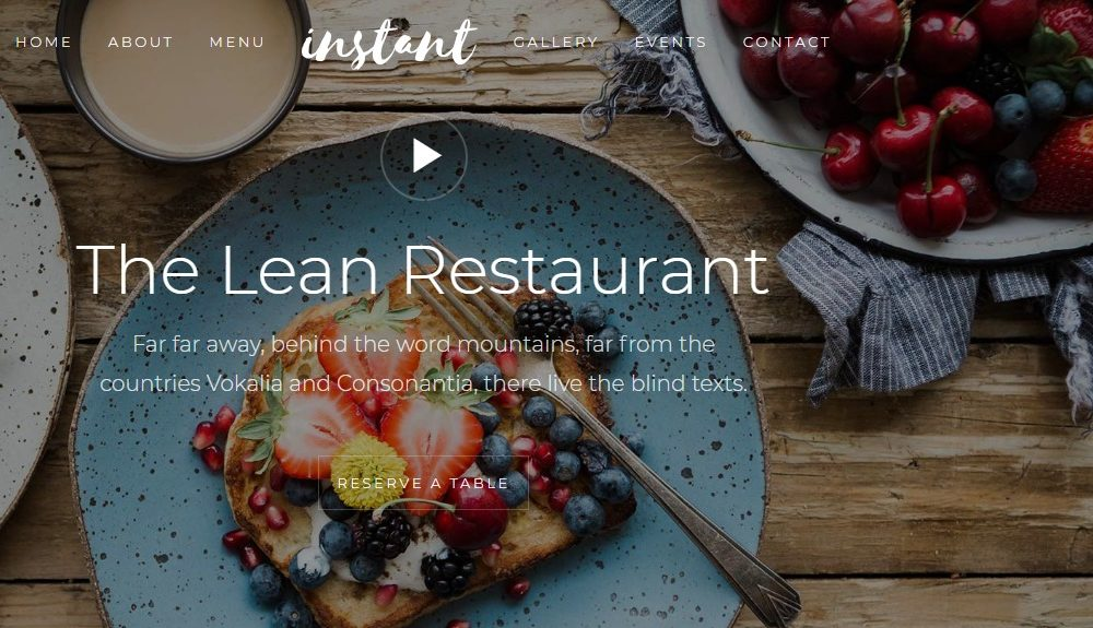 15 Free HTML5 Responsive Bootstrap Templates For 2018 - uiCookies - restaurant table layout templates