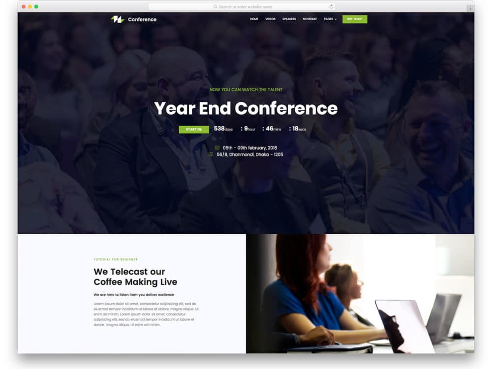 21 Best Free Event Website Templates That Event Managers Will Love