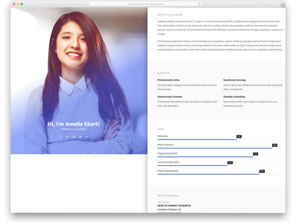 25+ Best Free Personal Website Templates For Professionals 2018