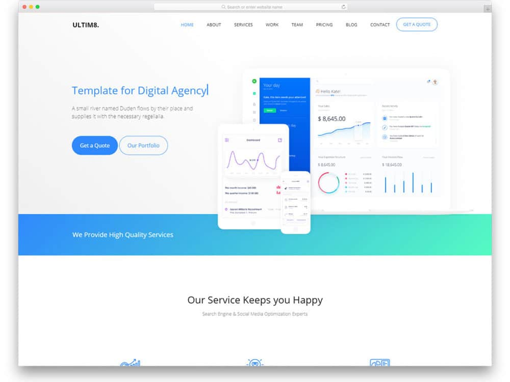 25+ Free CSS Website Templates To Create Clean Websites 2019