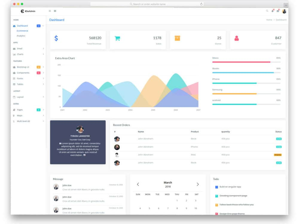 20 Free Simple Bootstrap Admin Templates For Content Rich Web - bootstrap admin template