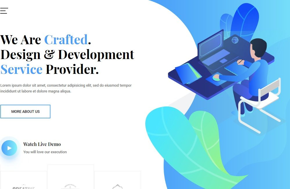 20 Free Bootstrap IT/Software Company Website Template for 2019