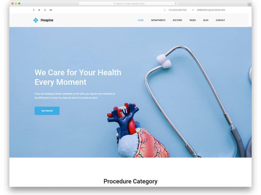 27 Free Bootstrap Hospital Website Templates 2019 - uiCookies