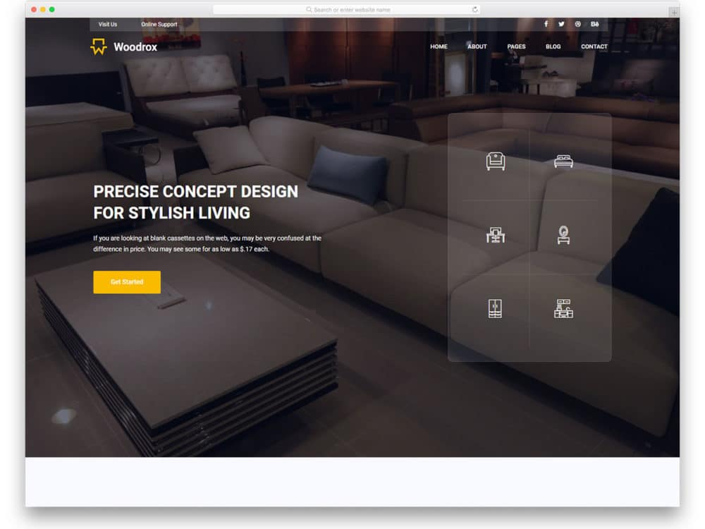 25 Free Interior Design  Furniture Website Templates With
