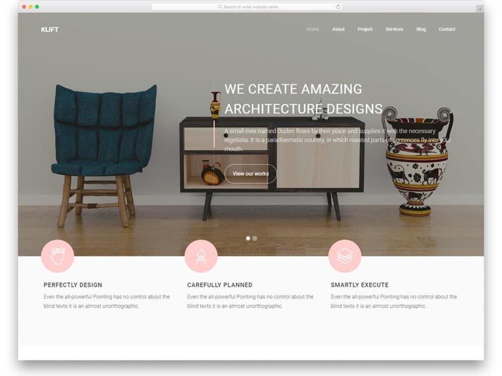 27 Free Interior Design  Furniture Website Templates With