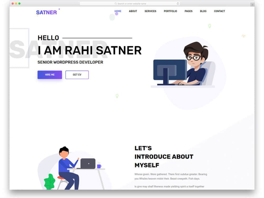 free bootstrap resume website template