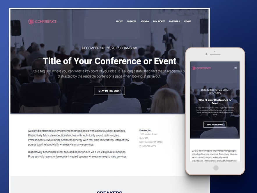 Conference - Event Management HTML5 Template Free Download - event ticket template free download