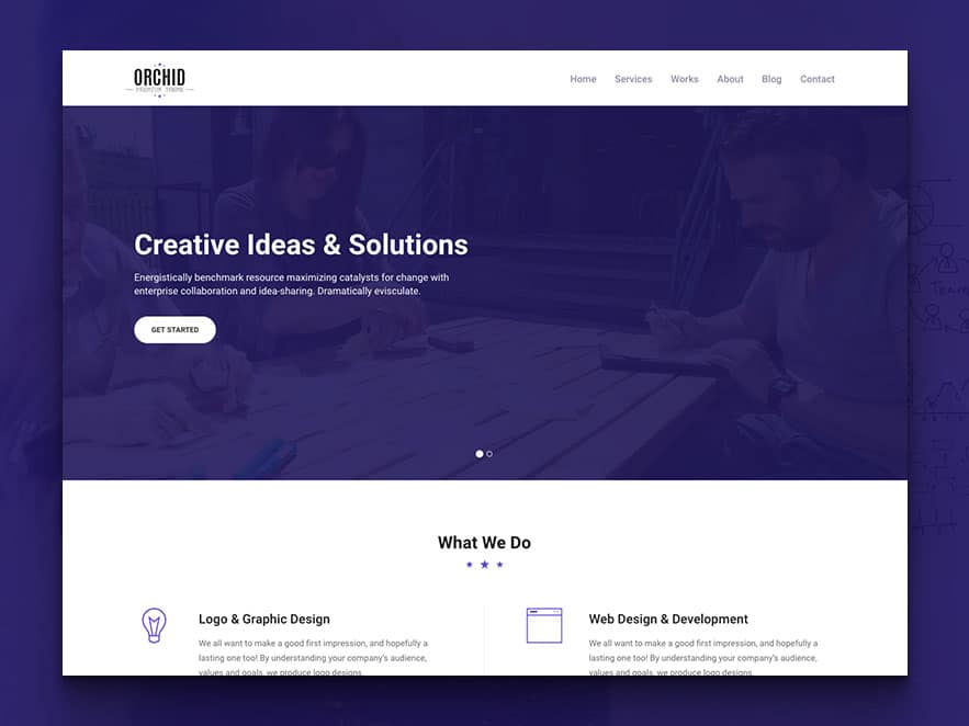 Orchid - Free HTML5 Business Simple Portfolio Website Template - simple website templates