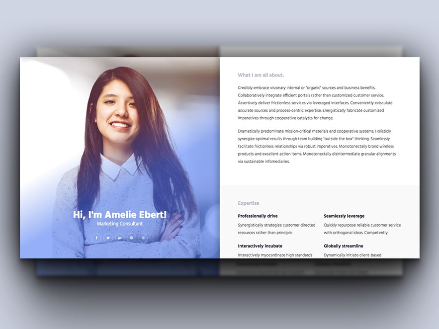 Online CV - Free HTML Responsive Bootstrap Resume Template - uiCookes - resume template website