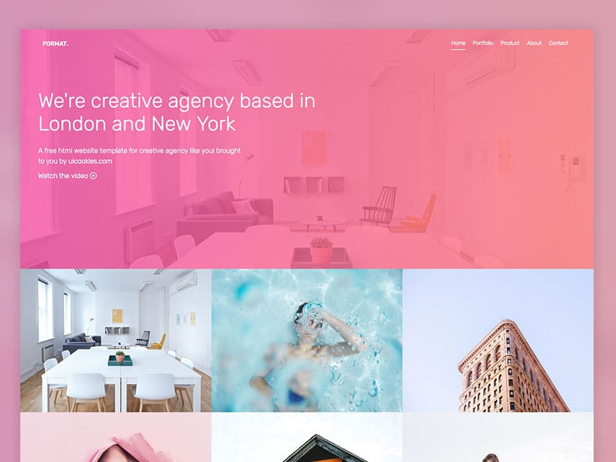 Format \u2013 Free Website Template Using Bootstrap For Portfolio
