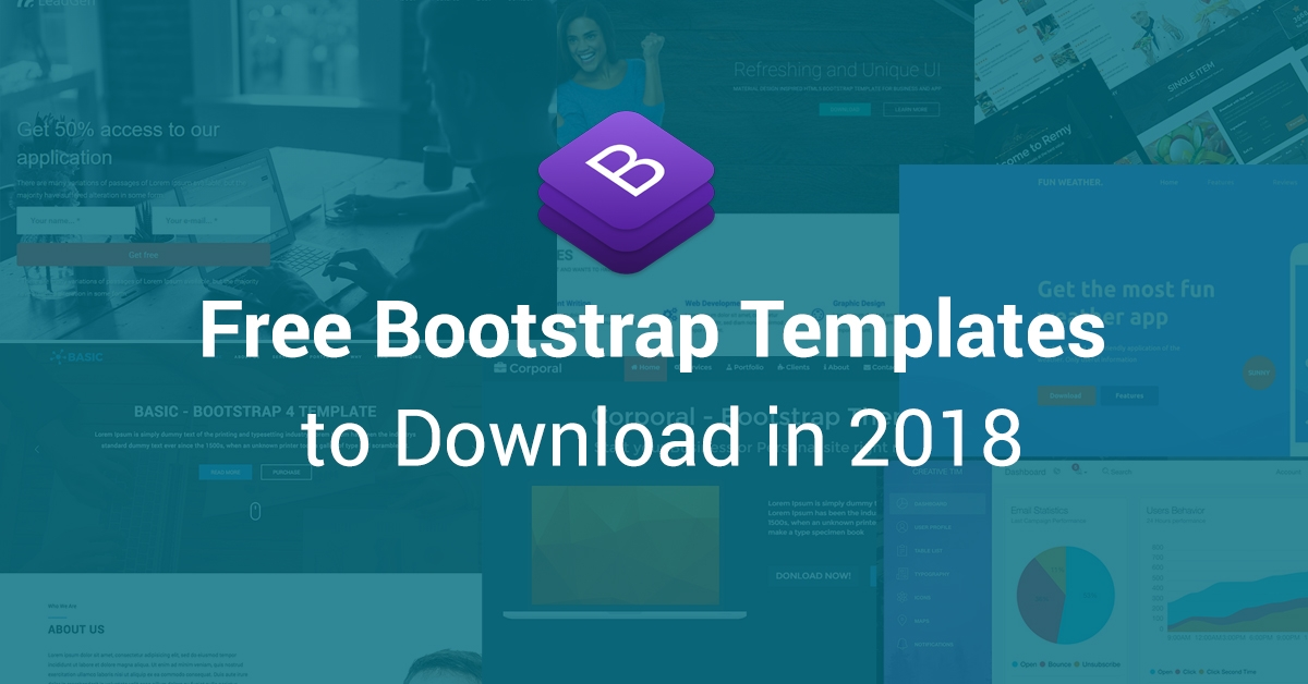 50+ Best Free Bootstrap HTML5 Templates 2018 - UIdeck - html5 template tag
