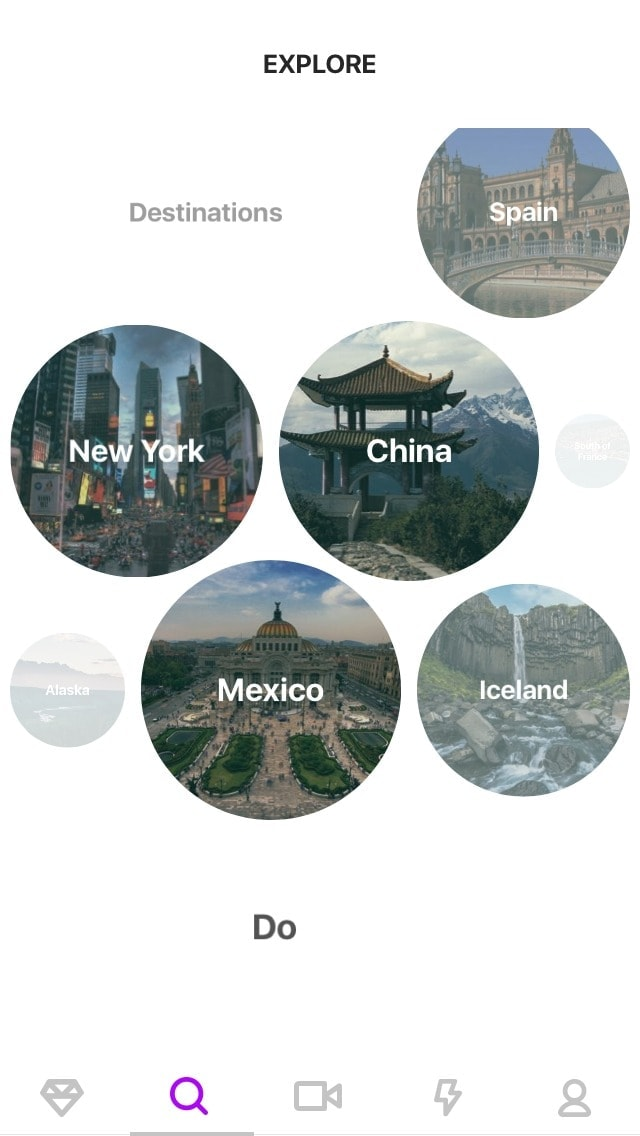 Explore Screen By @facetnation #ui #inspiration #interface #ios