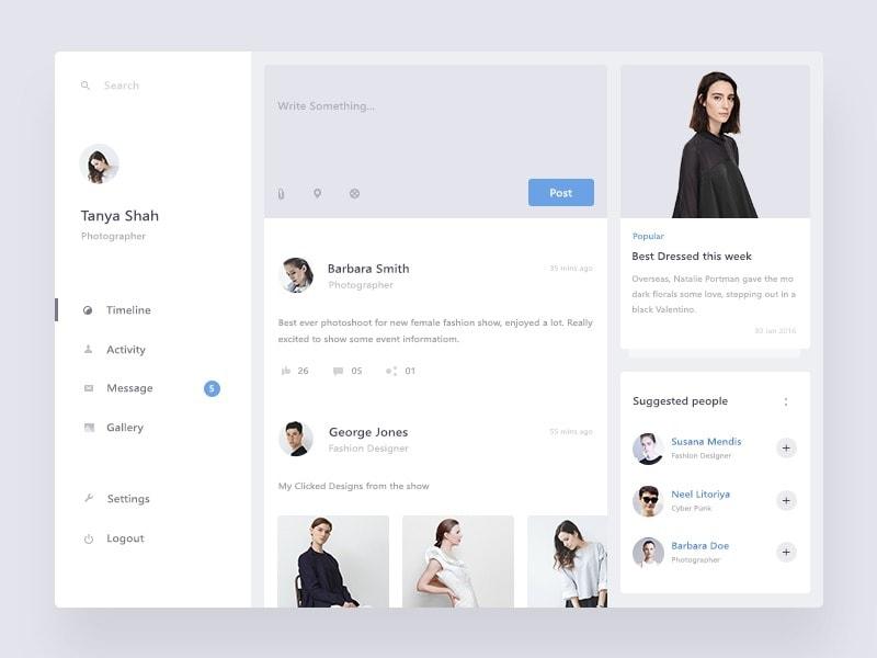 Dashboard By @prakhar Web #ui #inspiration #interface #web #design