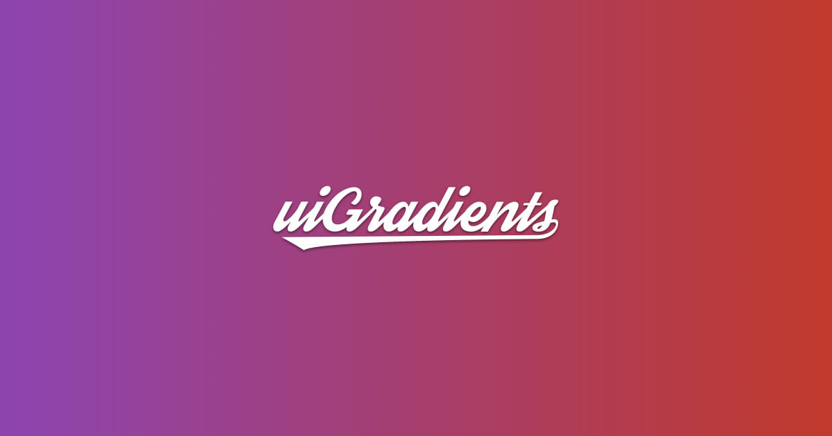 uiGradients - Beautiful colored gradients