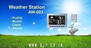 Alat Ukur Curah Hujan dan Pemantau Cuaca AW003