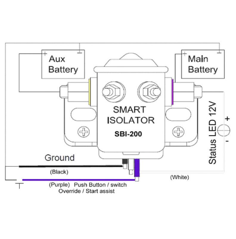 motorhome battery isolator diagram