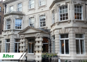Doff stone cleaning job for commercial customer in City of London completed by UK Performance Restoration.