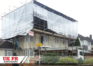 Scaffolding erected by UK PR Scaffolding for residential customer in London, UK.
