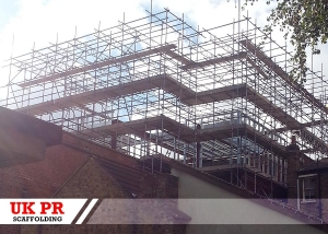 Scaffolding erected by UK PR Scaffolding for commercial customer in London, UK.