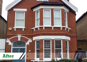 Paint removal job for residential customer in Sutton completed by UK Performance Restoration, London UK.