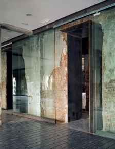 old exposed office brickwork and glass panels