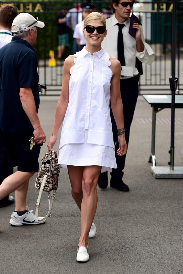 Rosamund Pike Wimbledon Style