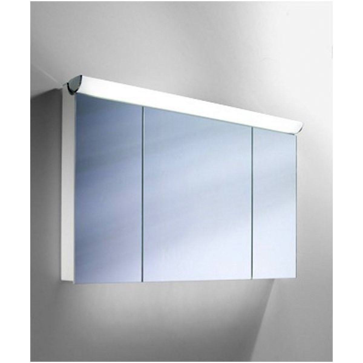 Mirrored Bathroom Cupboard Schneider Faceline 3 Door Illuminated Mirror Cabinet