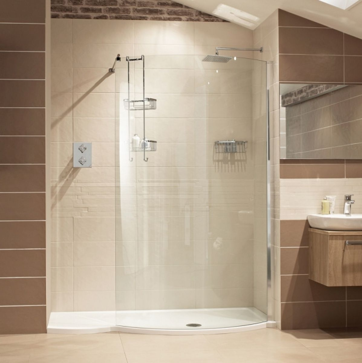 Douchecabine Accessoires Roman Lumin8 Colossus 1700mm Shower Enclosure Uk Bathrooms