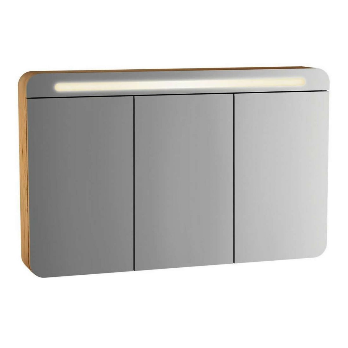 3 Door Mirrored Bathroom Cabinet Vitra Sento 3 Door Illuminated Mirror Cabinet Uk Bathrooms