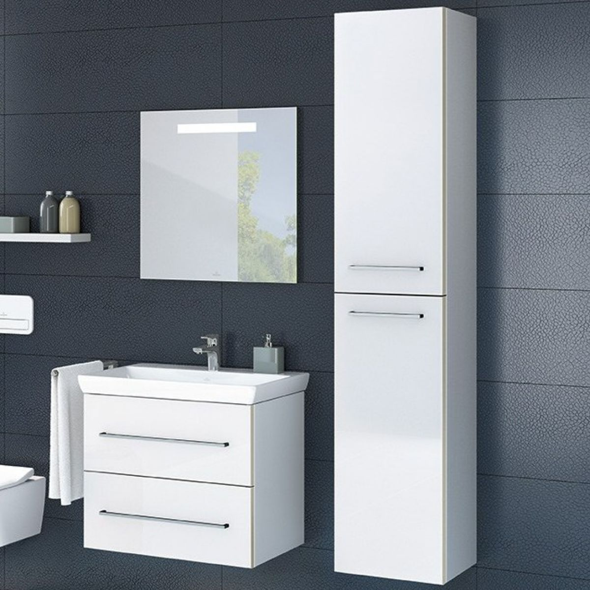 Villeroy Boch Avento Tall Cabinet Uk Bathrooms
