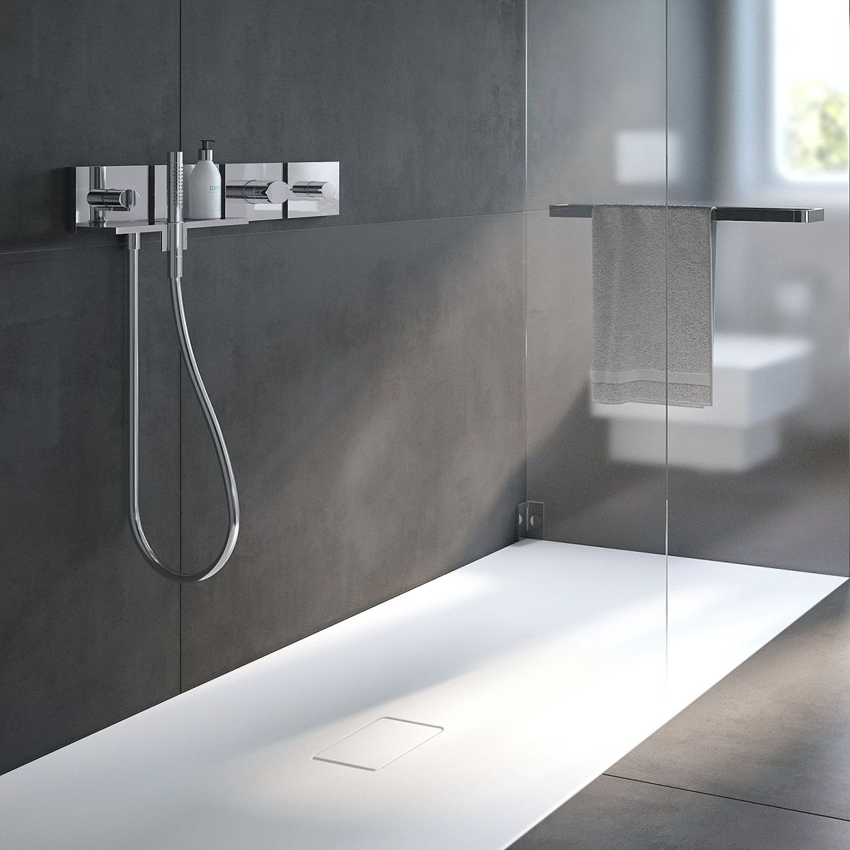 Kaldewei Xetis Kaldewei Conoflat Rectangular Shower Tray