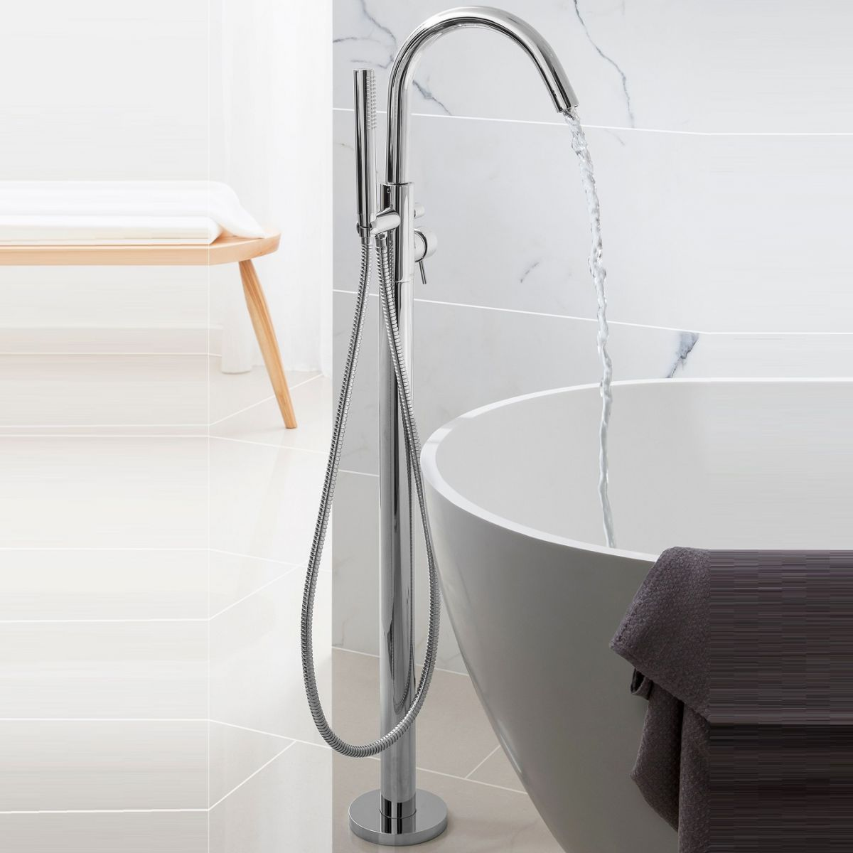Freestanding Bath Taps Crosswater Design Freestanding Bath Shower Mixer Uk