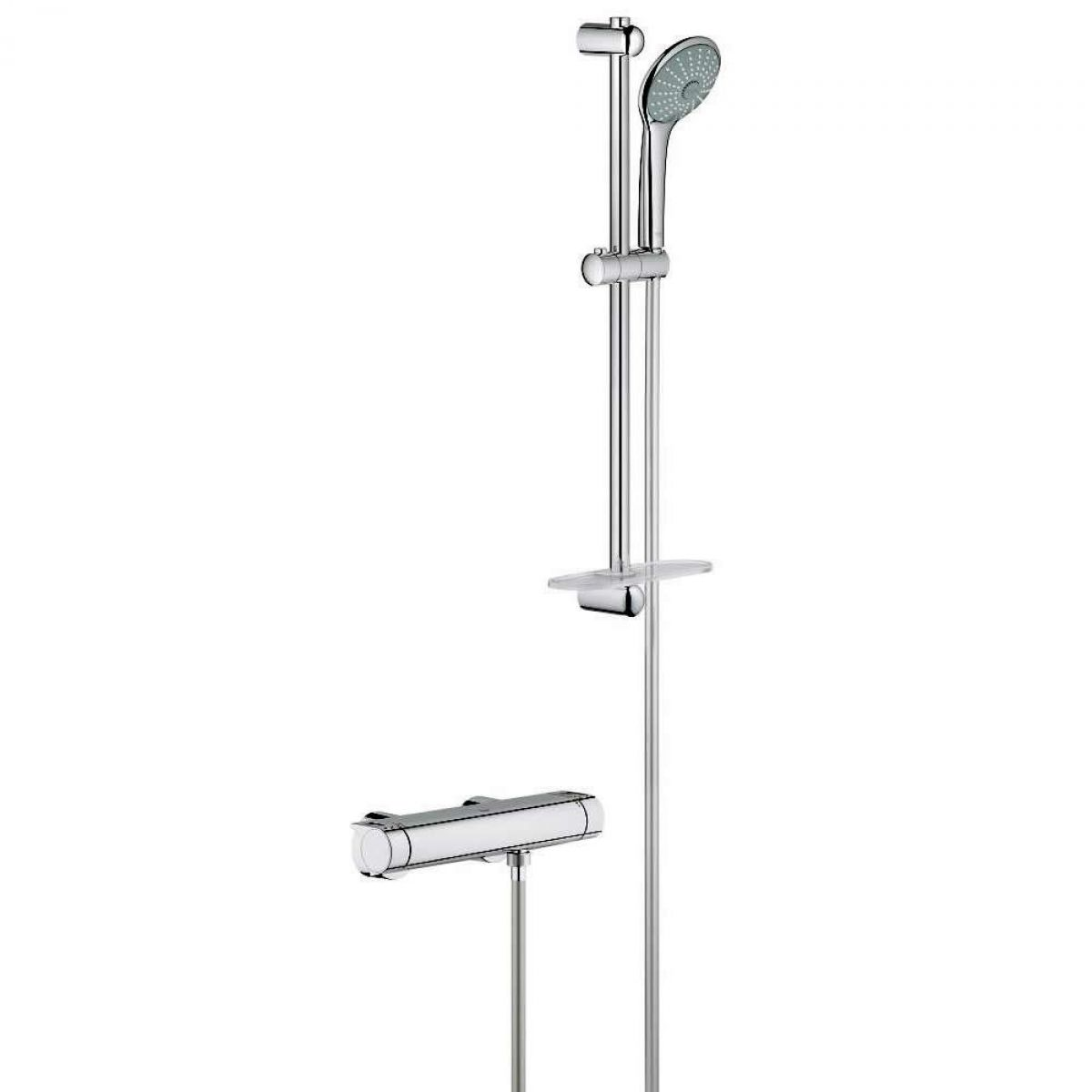 Grohe 2000 Grohe Grohtherm 2000 Thermostatic Shower Mixer With Euphoria Shower Set