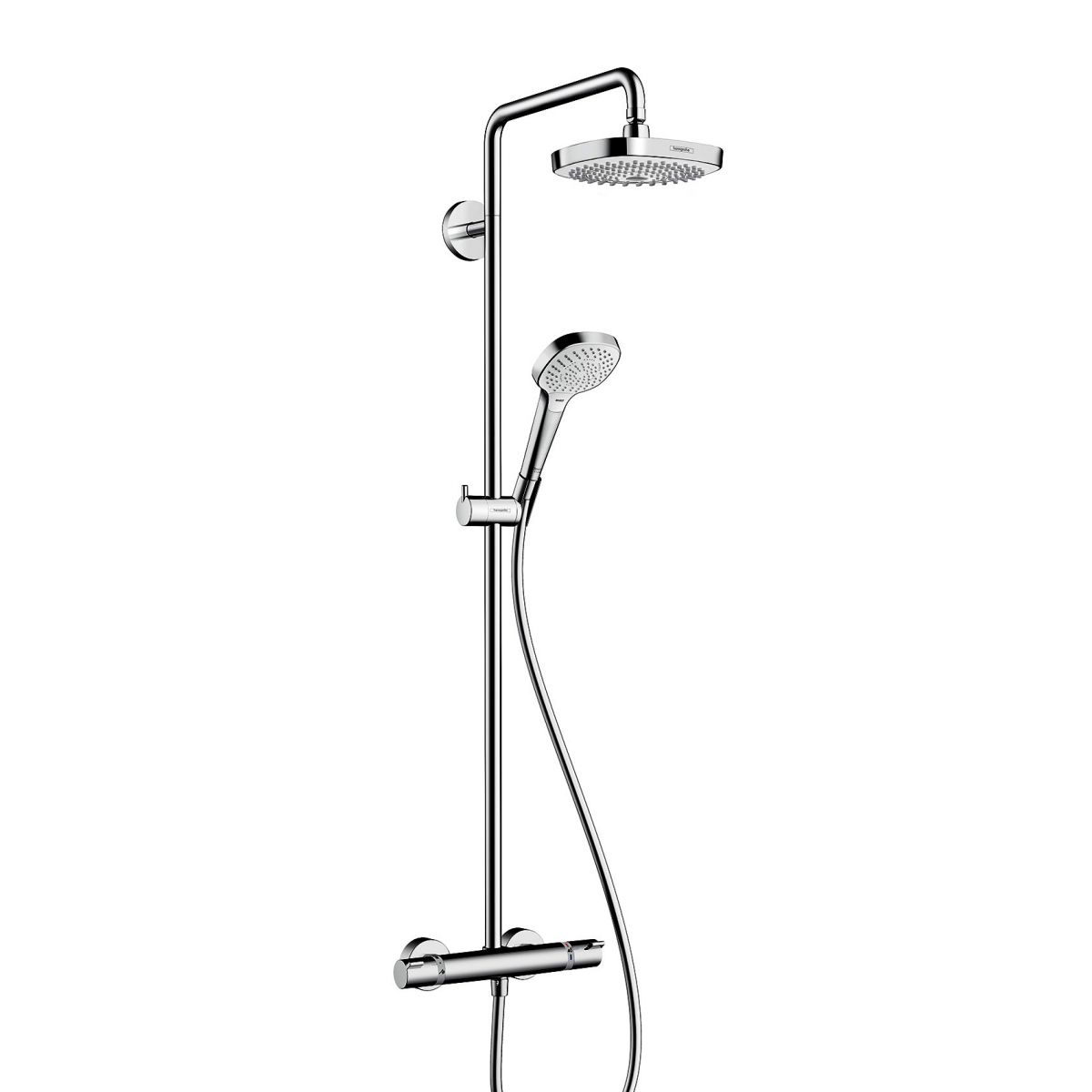 Hansgrohe Croma 2jet Hansgrohe Croma Select E 180 2jet Showerpipe Set