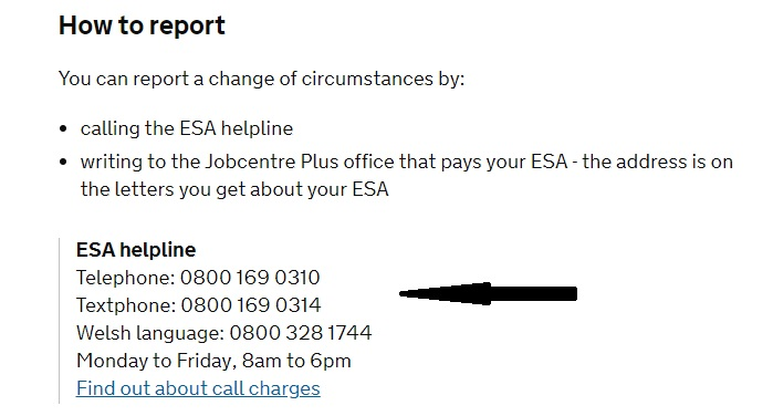 ESA Customers Contact Number - Free Phone 0800 169 0310