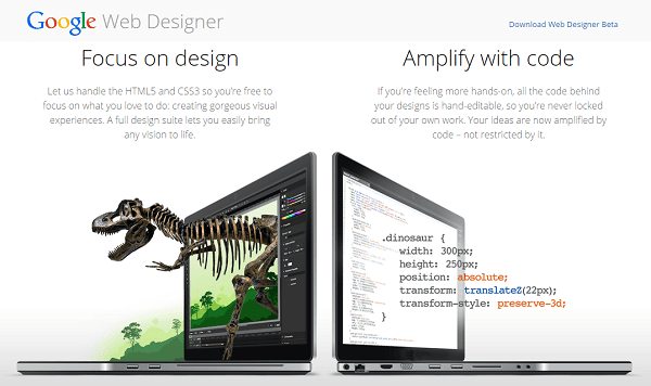 google webdesigner