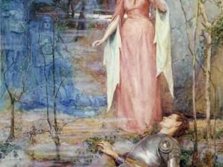 "Painting: ""La Belle Dame sans Merci"" by Henry Meynell Rheam, 1901"