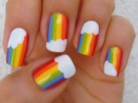 30 Amazing Rainbow Nail Art Design ideas 2015