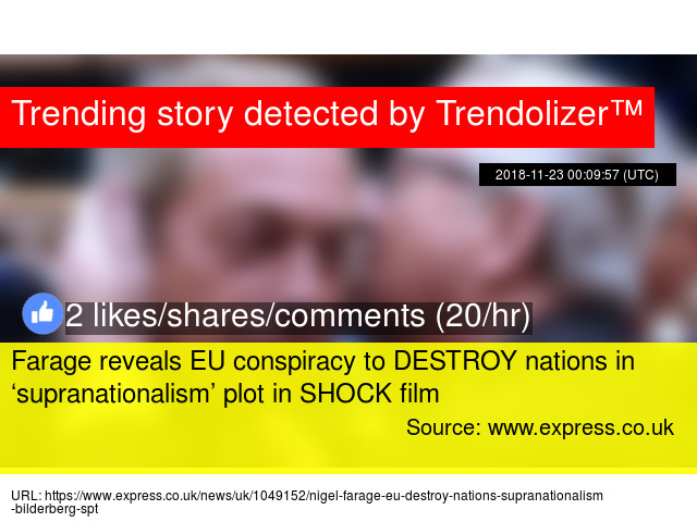Farage reveals EU conspiracy to DESTROY nations in \u0027supranationalism