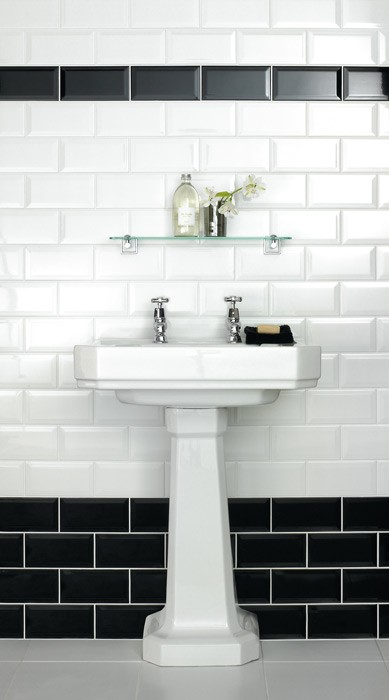 Metro Bevelled Edge 200x100 White Tile 1483 Metro Bathroom Tiles Uktcs
