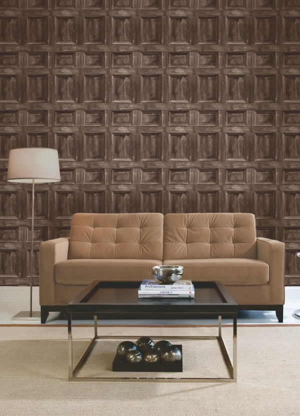Black And White Feature Wall Wallpaper Wood Panel