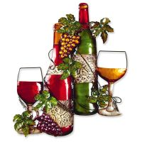 Metal Wine Bottle Garden and Home Wall Art | eBay