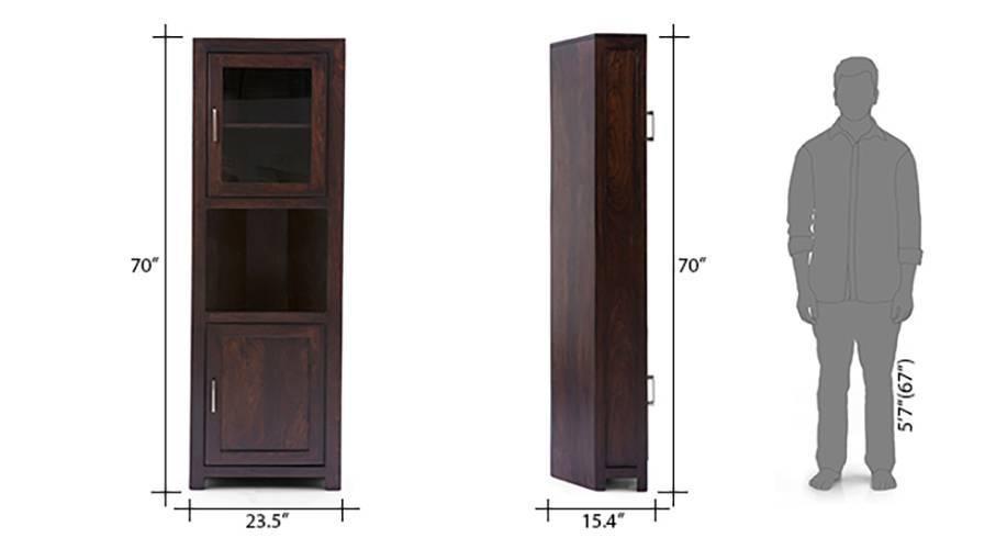Murano 70quot Tall Two Door Corner Cabinet Urban Ladder