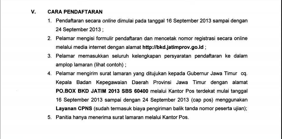 Penerimaan Cpns Jawa Timur September 2013 Pengumuman Penerimaan Pendaftaran Tes Cpns Online 2016 Info Penerimaan Cpns Provinsi Jawa Timur 2013 Ulidblog