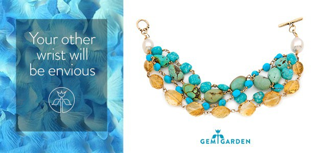 Digital marketing campaign for online jewelry retailer Gem Garden, featuring Jes MaHarry