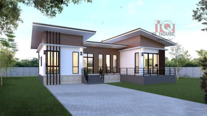 Bungalow Modern Modern Three-bedroom Bungalow Design With A Flexible Floor