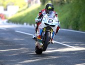 PACEMAKER, BELFAST, 3/6/2016: Bruce Anstey (Valvoline Padgetts Honda) at the top of Barregarrow during the final practice session of TT 2016. PICTURE BY STEPHEN DAVISON