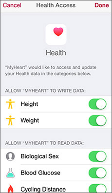 MyHeart Counts screen shot 5