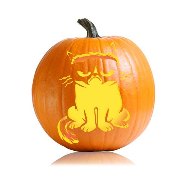 Celebrity Patterns - cat pumpkin template
